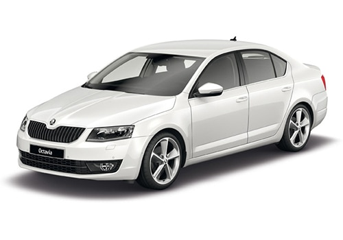 Skoda Octavia White Color Pictures