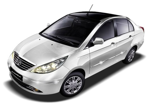 Tata Manza White Color Pictures