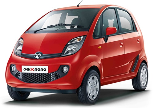 Tata Nano Sangria red Color