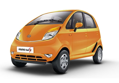 Tata Nano Papaya Orange Color