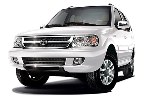 Tata Safari Artic White Color