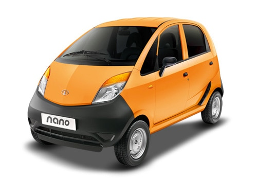 Tata Nano Orange Color Pictures