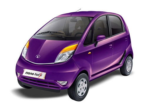 Tata Nano Damson Purple Color Picture
