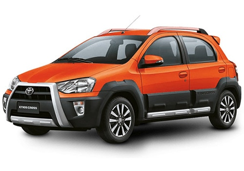 Toyota Etios Cross Orange Color Pictures Cardekho India
