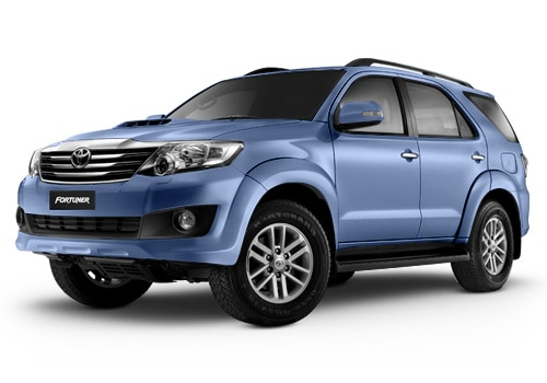 New Toyota Fortuner Blue Metallic Color