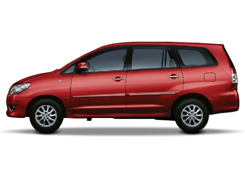 Toyota Innova Metallic Red Color Pictures