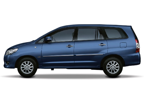 Toyota Innova Blue Metallic Color Pictures
