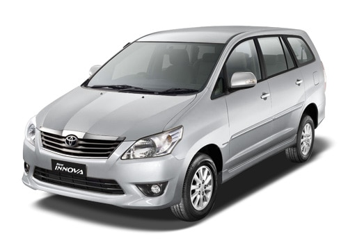 Toyota Innova Metallic Silver Color Pictures