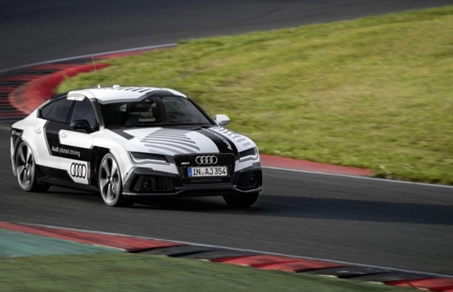 Audi RS7  Piloted Driving Concept Achieves 140mph