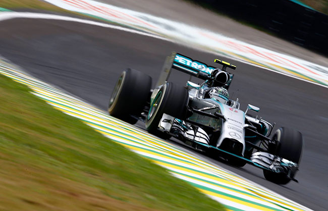Brazilian Grand Prix; 11th One-two finish for Team Mercedes with Rosberg on top