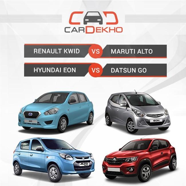 Renault Kwid Vs Maruti Alto Vs Hyundai Eon Vs Datsun Go Renault Kwid