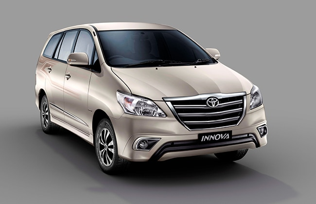 Both Innova and Fortuner got new color options - Bronze Mica metallic ...