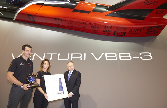 Venturi VBB-3 becomes world's fastest electric car