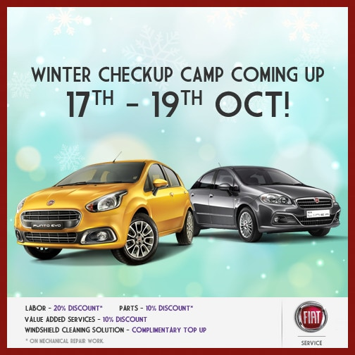 Fiat to organize Winter Checkup Camp on Oct 17-19