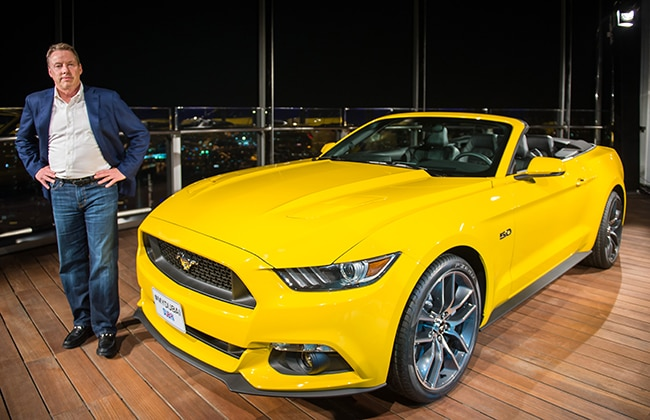 Ford Mustang at Burj Khalifa