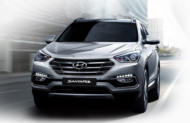 2016 hyundai santa fe to join tucson and sub 4 meter suv in auto expo. Black Bedroom Furniture Sets. Home Design Ideas