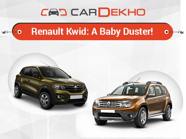 renault kwid a baby duster. Black Bedroom Furniture Sets. Home Design Ideas