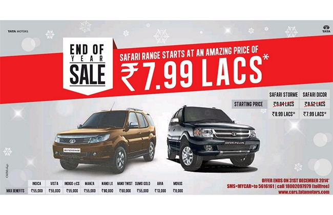 Avail Rs 95,000 Discount on Tata Safari Storme