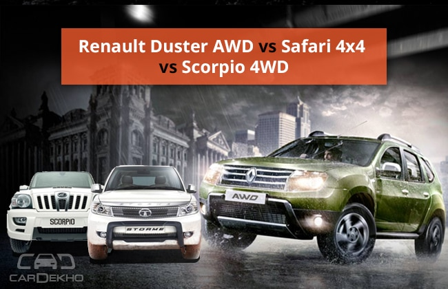 renault duster awd takes on safari 4x4 and scorpio 4wd. Black Bedroom Furniture Sets. Home Design Ideas