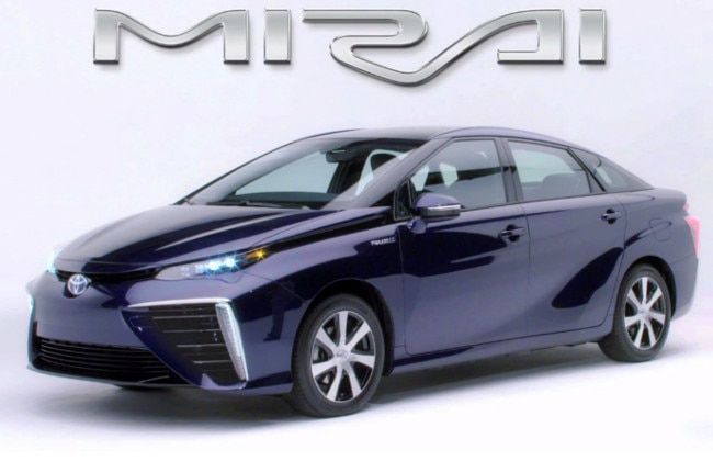 Toyota Mirai Hydrogen Fuel Cell Vehicle To Be Launched