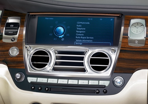 Rolls-Royce Ghost - Front AC Controls Interior Photo