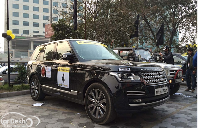 Rallying in a Range Rover