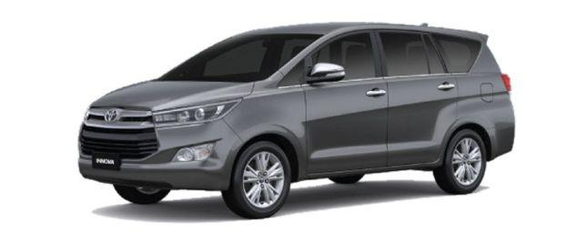 Grey टोयोटा Innova Crysta