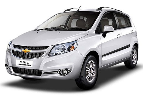 Chevrolet Sail Hatchback Summit White Color