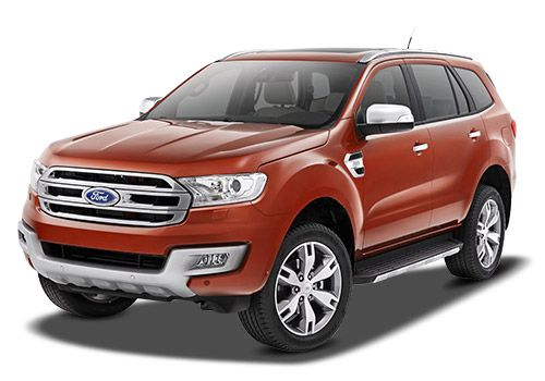 Ford Endeavour Sunset Red Color