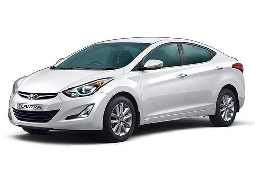 Hyundai Elantra Polar White Color