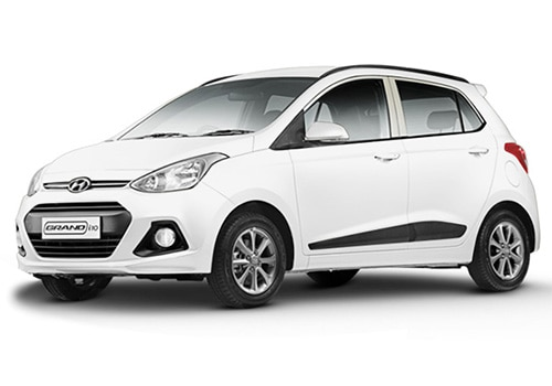 Hyundai Grand i10 Pure white Color