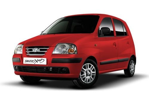 Hyundai Santro Xing Maharajah Red Color