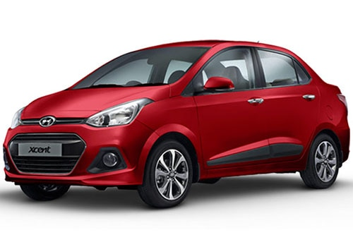 Hyundai Xcent Passion Red Color