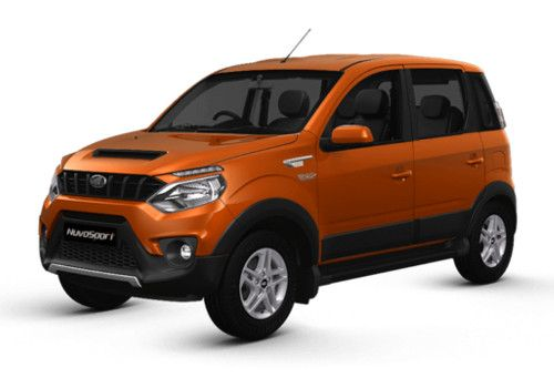 Mahindra NuvoSport Rust Orange Color