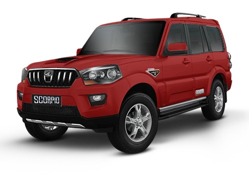 Mahindra Scorpio Molten Red Color