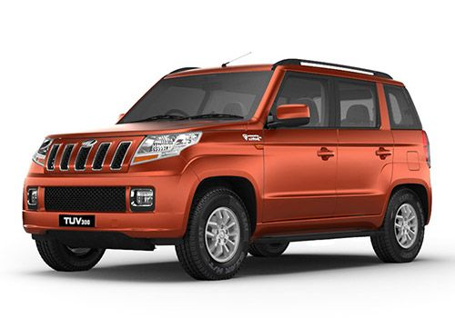 Mahindra TUV 300 Molten Orange Color