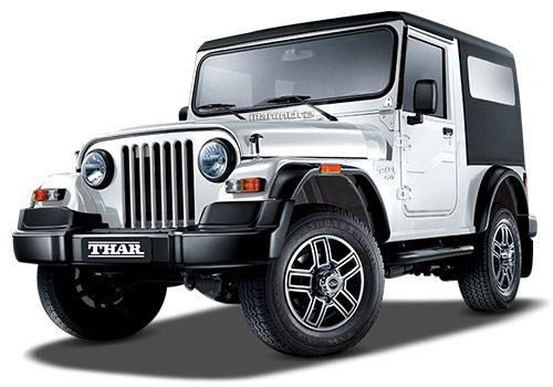 Mahindra Thar Diamond White Color