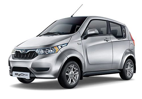 Mahindra e2oPlusArctic Silver Color