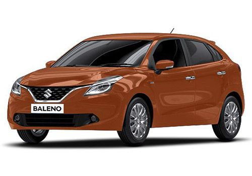 Maruti Baleno Autumn Orange Color