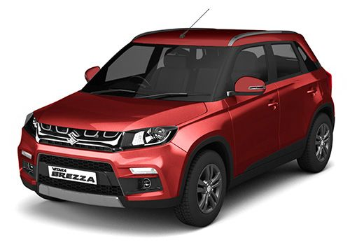 Maruti Vitara BrezzaBlazing Red Color