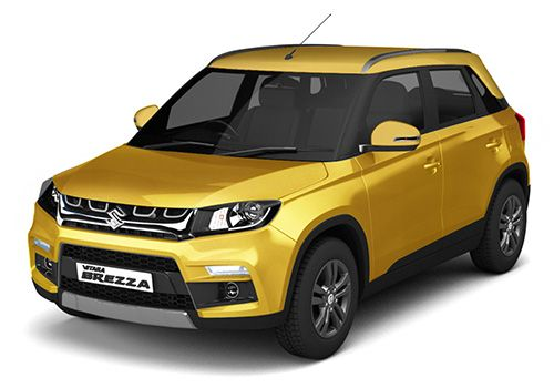 Maruti Vitara Brezza Fiery Yellow Color