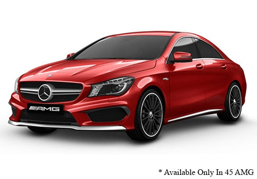 Mercedes-Benz CLA Designo Patagonia Red Metallic Color
