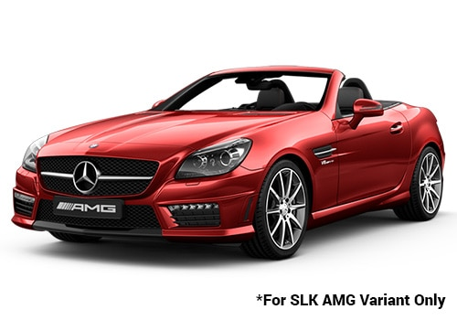 Mercedes Benz Slk Class Red Color Pictures Cardekho India
