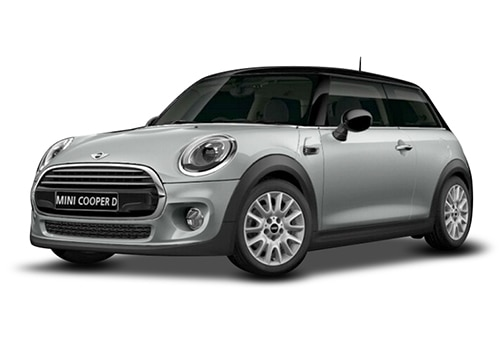 Mini 3 DOOR White Silver Metallic Color