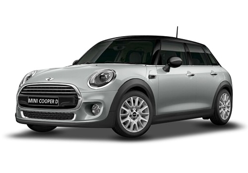 Mini 5 DOOR White Silver Metallic Color