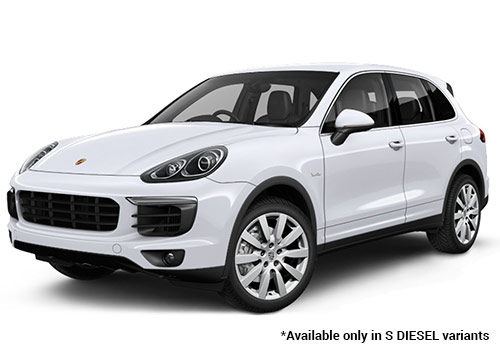 Porsche Cayenne Carrara White Metallic S Diesel Variant Color