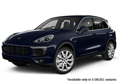 Porsche Cayenne Moonlight Blue Metallic S Variant Color
