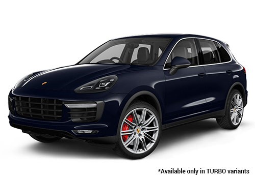 Porsche Cayenne Moonlight Blue Metallic Turbo Variant Color