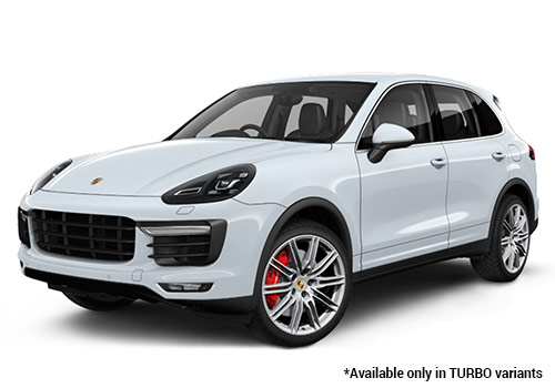 Porsche Cayenne Rhodium Silver Metallic Turbo Variant Color