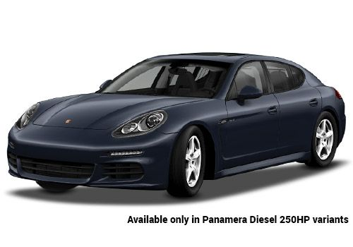 Porsche Panamera Dark Blue Metallic Diesel 250HP Variant Color